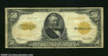 Large Size:Gold Certificates, Fr. 1200 $50 1922 Gold Certificate About Fine. A couple of ...