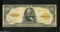 Large Size:Gold Certificates, Fr. 1200 $50 1922 Gold Certificate Very Good-Fine. The ...
