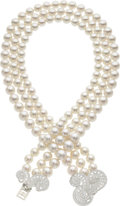 Estate Jewelry:Necklaces, South Sea Cultured Pearl, Diamond, Platinum Necklace, Francesca Amfitheatrof for Tiffany & Co. . ...