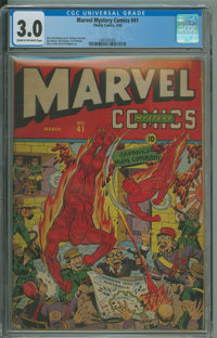 Marvel Mystery Comics #41 (Timely, 1943) CGC GD/VG 3.0 Cream to off-white pages