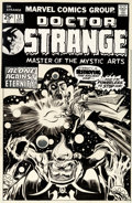 Original Comic Art:Covers, Gene Colan and Tom Palmer Doctor Strange #13 Cover Original Art (Marvel, 1976)....