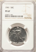 1941 50C PR67 NGC. NGC Census: (441/66). PCGS Population: (386/35). CDN: $550 Whsle. Bid for NGC/PCGS PR67. Mintage 15,4...