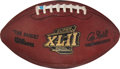 Football Collectibles:Balls, 2008 Super Bowl XLII Game Used Football - Photo Matched to Osi Umenyiora Fumble Recovery & Presentation Football Lot of 2. ... (Total: 2 item)
