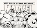 Original Comic Art:Covers, John Romita Sr. and Joe Sinnott Marvel: 1993 Super Hero Calendar Cover Original Art (Marvel, 1992)....