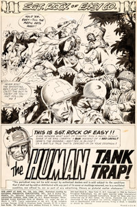Joe Kubert Our Army at War #156 Splash Page 1 Original Art (DC, 1965)