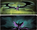 Animation Art:Color Model, Eyvind Earle Sleeping Beauty Maleficent and Dragon Concept Paintings Group of 2 (Walt Disney, 1959).... (Total: 2 Original Art)