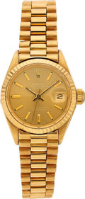 Estate Jewelry:Watches, Rolex Lady's Gold Datejust Watch . ...