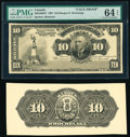 Canada Montreal, PQ- Banque d'Hochelaga $10 1.3.1907 Pick S797p Ch.# 360-18-08FP; 360-18-08BP Front and Back Proofs &...