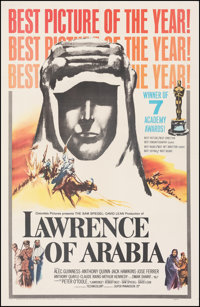 """Lawrence of Arabia (Columbia, 1963). Fine/Very Fine on Linen. One Sheet (27"""" X 41""""). Style D, Academy Awards S..."""