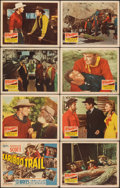 """Movie Posters:Western, The Cariboo Trail (20th Century Fox, 1950). Overall: Fine+. Lobby Card Set of 8 (11"""" X 14""""). Western.. ... (Total: ..."""