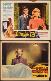 "The Human Monster & Other Lot (Monogram, 1939). Overall: Fine. Lobby Cards (2) (11"" X 14""). Horror. ... (T..."