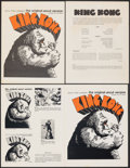 "Movie Posters:Horror, King Kong (Janus Films, R-1968). Very Fine. Uncut Pressbooks (3) Identical (Multiple Pages, 8.5"" X 11"") & Photos (4) ..."