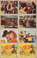 """Movie Posters:Musical, Annie Get Your Gun (MGM, R-1956). Fine/Very Fine. Title Lobby Cards (2) Identical & Lobby Cards (6) (11"""" X 14""""). Musical.. ... (Total: 8 Items)"""