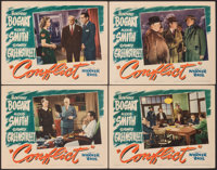 """Conflict (Warner Bros., 1945). Very Fine+. Lobby Cards (4) (11"""" X 14""""). Film Noir. ... (Total: 4 Items)"""