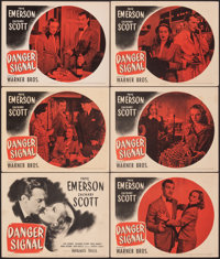 """Danger Signal (Warner Bros., 1945). Overall: Fine/Very Fine. Title Lobby Card & Lobby Cards (5) (11"""" X 14""""..."""