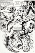 Original Comic Art:Panel Pages, Steve Bissette and John Totleben Swamp Thing #40 Story Page 14 Original Art (DC, 1985)....