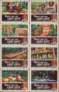 "Movie Posters:Documentary, Quest for the Lost City (RKO, 1954). Very Fine-. Lobby Card Set of 8 (11"" X 14""). Documentary.. ..."