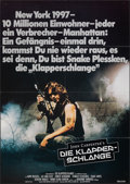"""Movie Posters:Science Fiction, Escape from New York (Constantin Film, 1981). Folded, Fine/Very Fine. German A1 (23.25"""" X 33""""). Science Fiction.. ..."""