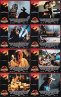 """Movie Posters:Science Fiction, Jurassic Park (Universal, 1993). Very Fine/Near Mint. International Lobby Card Set of 8 (11"""" X 14""""). Chip Kidd and Sandy Col... (Total: 8 Items)"""