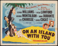 """Movie Posters:Musical, On an Island with You (MGM, 1948). Fine/Very Fine. Title Lobby Card (11"""" X 14""""). Al Hirschfeld Artwork. Musical.. ..."""