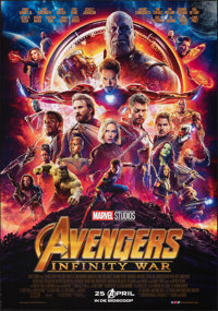 "Avengers: Infinity War (Walt Disney Pictures, 2018). Rolled, Very Fine+. Dutch One Sheet (27.5"" X 39.25"") DS A..."