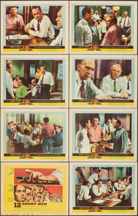 "12 Angry Men (United Artists, 1957). Overall: Very Fine-. Lobby Card Set of 8 (11"" X 14""). Drama. ... (Total:..."