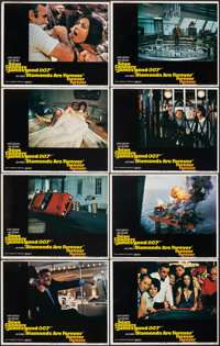 "Diamonds are Forever (United Artists, 1971). Fine/Very Fine. Lobby Card Set of 8 (11"" X 14""). James Bond..."