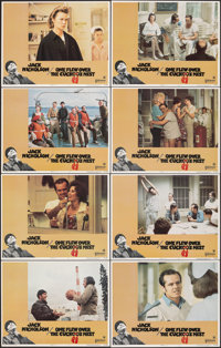 """One Flew Over the Cuckoo's Nest (United Artists, 1975). Very Fine+. Lobby Card Set of 8 (11"""" X 14""""). Academy A..."""