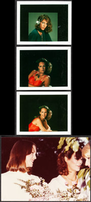 """Jamie Lee Curtis Lot (Late 1970s). Very Fine-. Photos (4) (3.5"""" X 4.25"""" & 5"""" X 7""""), Signed Check..."""