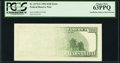 Insufficient Inking of Back Printing Error Fr. 2175-G $100 1996 Federal Reserve Note. PCGS Choice New 63PPQ