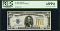 Small Size:World War II Emergency Notes, Fr. 2307 $5 1934A North Africa Silver Certificate. PCGS Gem New 65PPQ.. ...