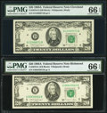 Fr. 2076-D; E $20 1988A Federal Reserve Notes. PMG Gem Uncirculated 66 EPQ. ... (Total: 2 notes)