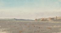 Frank Reaugh (American, 1860-1945) Shadow Colors Pastel on paper 5-1/2 x 8 inches (14 x 20.3 cm)