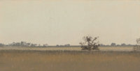Frank Reaugh (American, 1860-1945) The Barn Pastel on paper 6 x 10 inches (15.2 x 25.4 cm) Tit