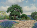 Paintings, Randy Peyton (American, b. 1958). Bluebonnets, 1978. Oil on canvas. 12 x 16 inches (30.5 x 40.6 cm). Signed and dated lo...