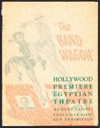 """The Band Wagon (MGM, 1953). Fine/Very Fine. Hollywood Premiere Program (8 Pages, 8.5"""" X 11""""). Musical"""