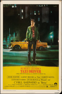 """Taxi Driver (Columbia, 1976). Rolled, Fine. One Sheet (27"""" X 41""""). Guy Pellaert Artwork. Crime"""