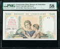French Indochina Banque de l'Indo-Chine 500 Piastres ND (1939) Pick 57 PMG Choice About Unc 58