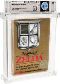 The Legend of Zelda - Wata 6.5 A Sealed [Rev-A, Round SOQ, Early Production], NES Nintendo 1987 USA