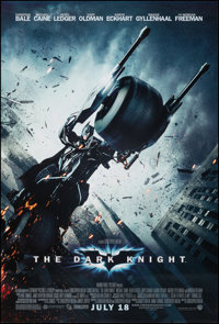 """The Dark Knight (Warner Bros., 2008). Rolled, Very Fine+. One Sheet (27"""" X 40"""") DS Advance, Batpod Style. Acti..."""