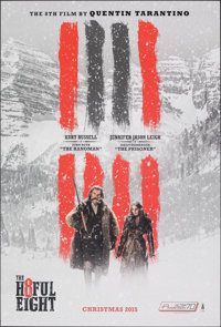 "The Hateful Eight (The Weinstein Company, 2015). Rolled, Very Fine/Near Mint. One Sheet (27"" X 40"") DS Advance..."