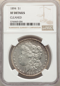 1894 $1 -- Cleaned -- NGC Details. XF. Mintage 110,972....(PCGS# 7228)