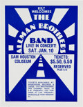 Music Memorabilia:Posters, The Allman Brothers Band 1976 Houston, Texas Concert Flyer....