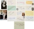 Movie/TV Memorabilia:Autographs and Signed Items, Yankee Doodle Dandy Collection of Cast Signatures (15)....