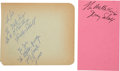 Music Memorabilia:Autographs and Signed Items, The Mello-Kings Collection of Signatures. ...