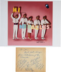 Music Memorabilia:Autographs and Signed Items, The Miracles Signed Paper. ...
