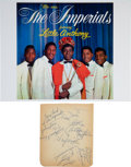 Music Memorabilia:Autographs and Signed Items, Little Anthony and the Imperials Signed Page. ...
