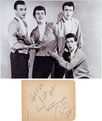 Dion and the Belmonts Signed Page