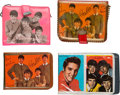Music Memorabilia:Memorabilia, The Beatles Group of Four Vintage Wallets with Color Photo...