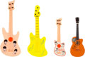 Music Memorabilia:Memorabilia, The Beatles Set of Four Displayable Miniature Guitars (4)....